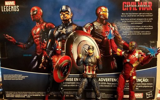 Figurki Marvel Legends Civil War miniaturka