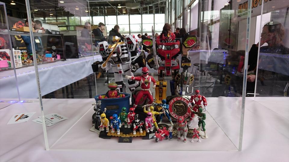 Pyrkon 2017 Power Rangers diorama