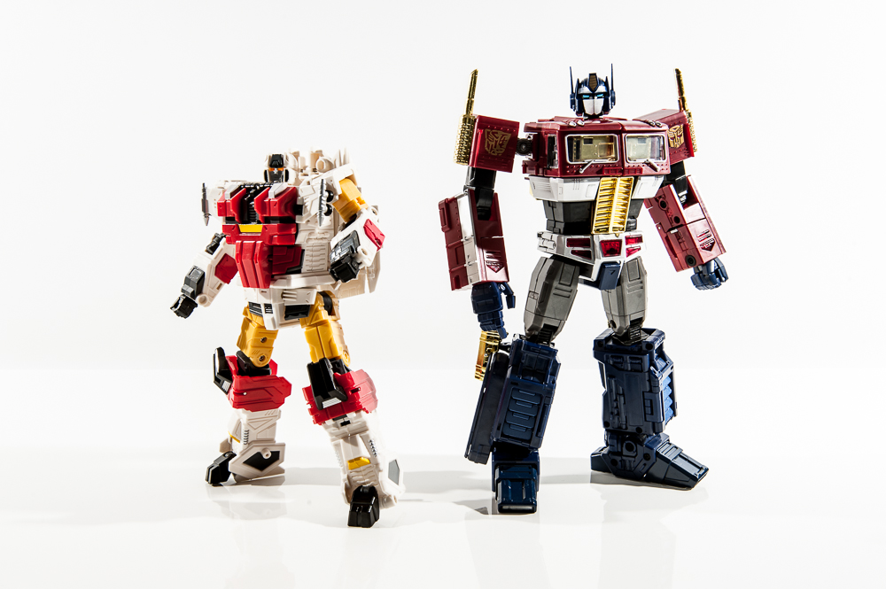 transformers masterpiece mp group shot comparison together optimus prime silverbolt