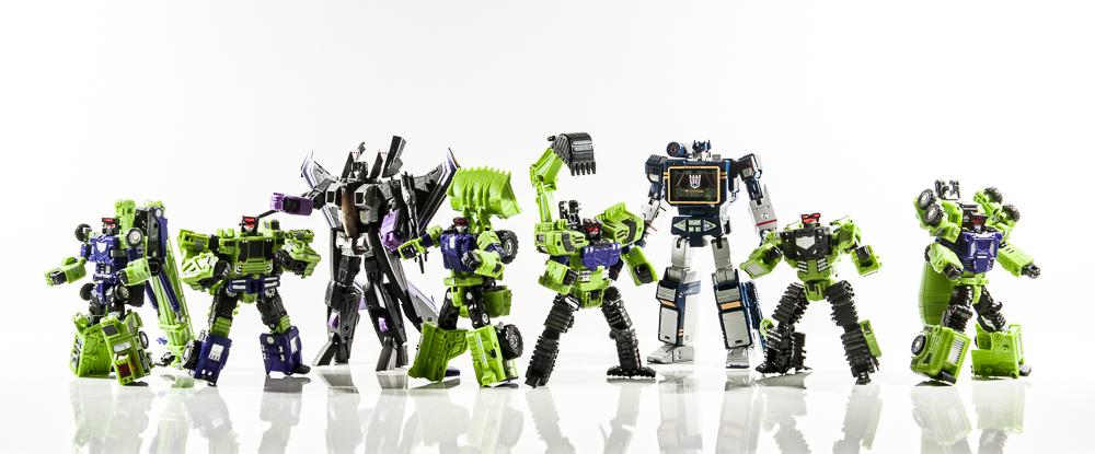 transformers masterpiece mp group shot comparison together skywarp soundwave bonecrusher hook scrapper scavenger mixmaster longhaul tfc toys hasbro