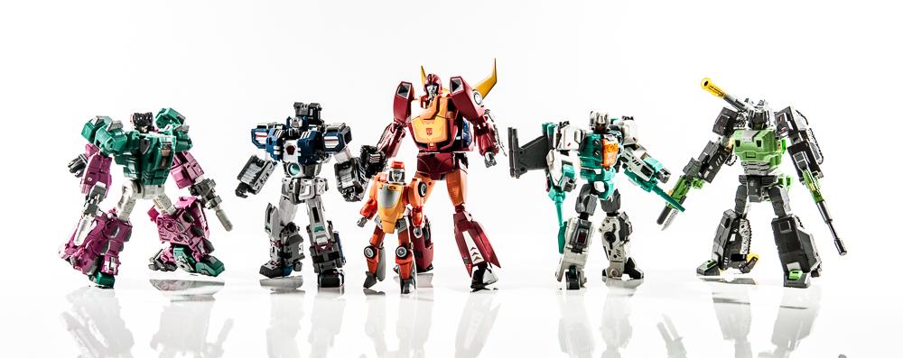 transformers masterpiece mp group shot comparison together rodimus hot rod fortress maximus warden wheelie brainstorm skullcruncher hardhead toyworld hasbro