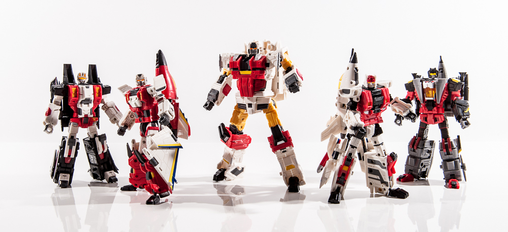 transformers masterpiece mp group shot comparison together aerialbots air raid skydive slingshot silverbolt fireflight