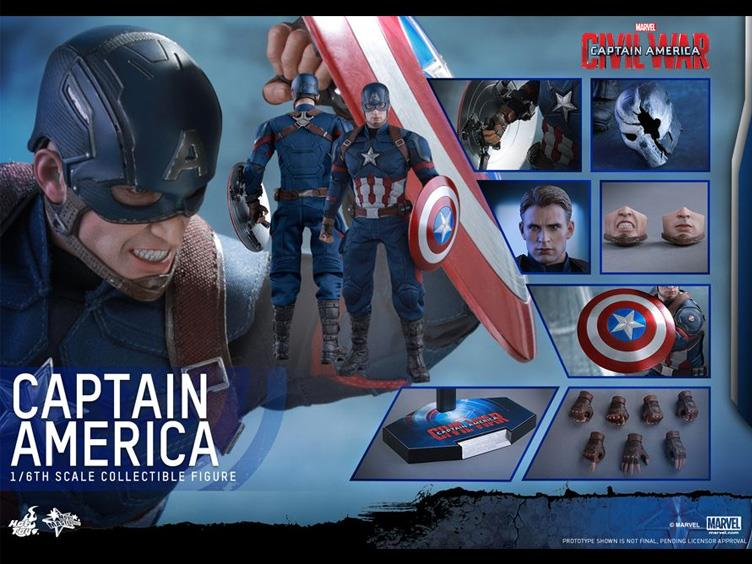 Figurki Marvel Civil War Hot Toys