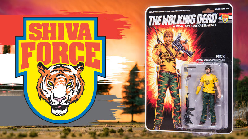 sdcc 2017 the walking dead shiva force rick grimmes