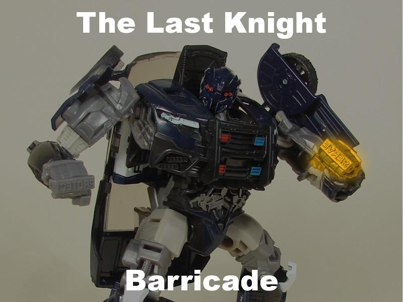 Transformers The Last Knight Barricade strona tytułowa