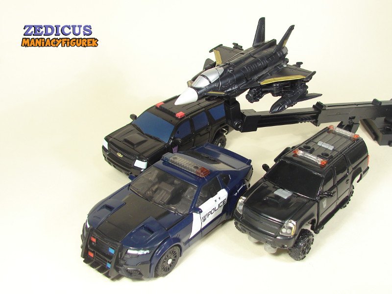 Deluxe TLK Berserker, Commander DOTM Hatchet, Deluxe DOTM Crankcase, TLK Barricade