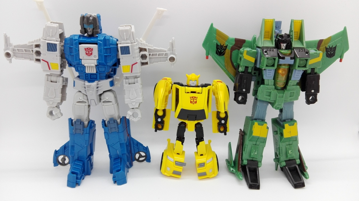 Transformers Generations Titans Return Bumblebee robot-comparisons-3