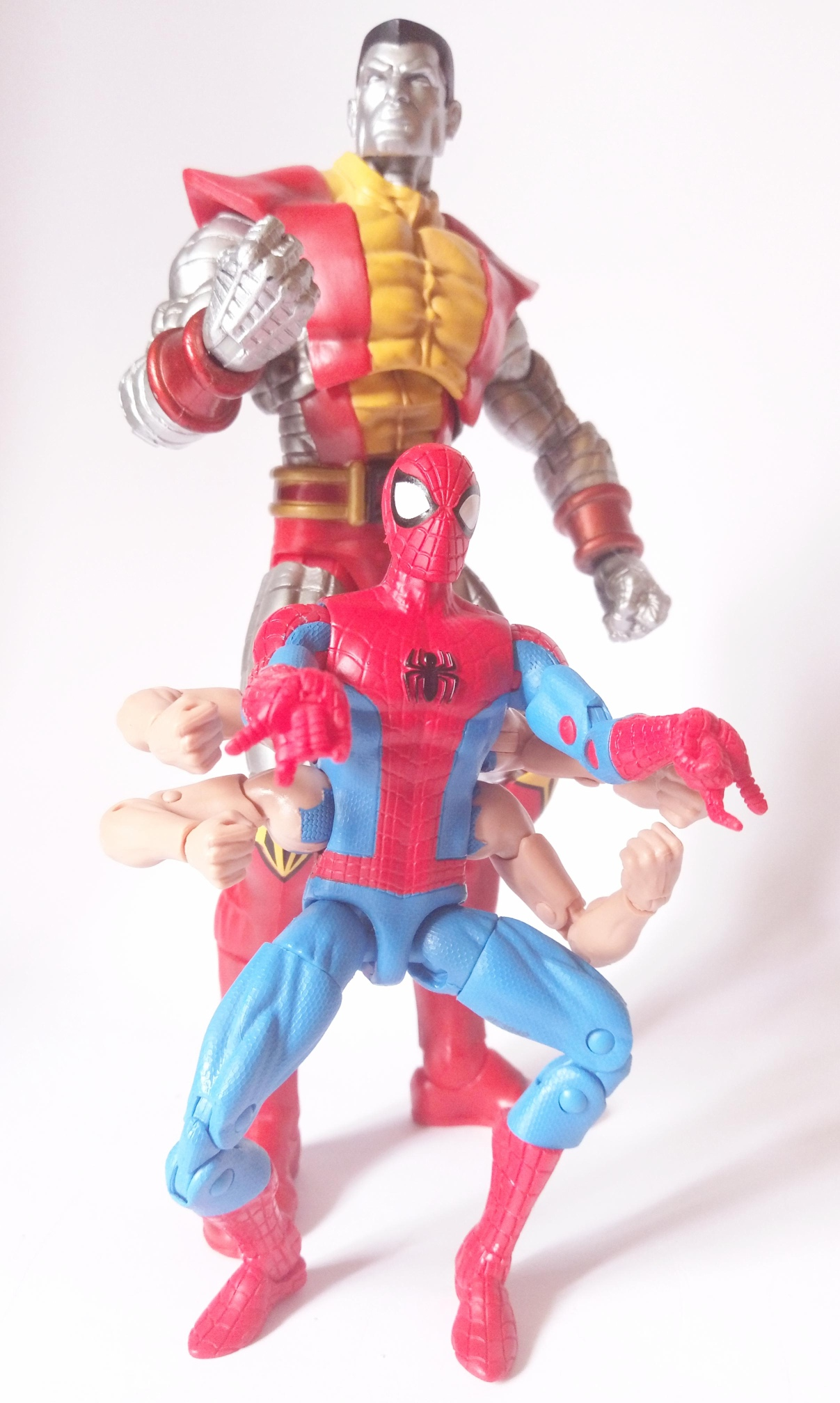 Marvel Legends Sixarms Spiderman vs. Marvel Select Colossus
